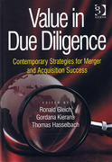 Cover of Value in Due Diligence: Contemporary Strategies for Merger and Acquisition Success