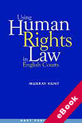 Cover of Using Human Rights Law in English Courts (eBook)