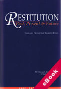 Cover of Restitution: Past, Present and Future: Essays in Honour of Gareth Jones (eBook)