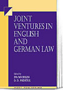Cover of Joint Ventures in English and German Law