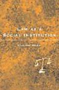 Cover of Law as a Social Institution