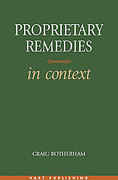 Cover of Proprietary Remedies in Context
