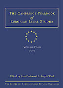Cover of Cambridge Yearbook of European Legal Studies: Vol 3, 2001