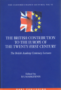 Cover of The British Contribution to the Europe of the Twenty-first Century