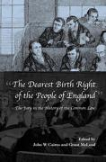 Cover of The Dearest Birth Right of the People of England: The Jury in the History of the Common Law