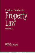 Cover of Modern Studies in Property Law: Volume 2