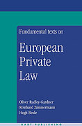 Cover of Fundamental Texts on European Private Law