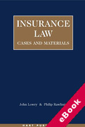 Cover of Insurance Law: Cases and Materials (eBook)