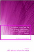 Cover of European Union Law for the Twenty-First Century: Rethinking the New Legal Order - Volume 2