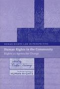 Cover of Human Rights in the Community: Rights as Agents for Change