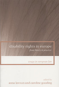 Cover of Disability Rights in Europe: From Theory to Practice
