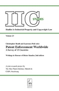 Cover of Patent Enforcement Worldwide: A Survey of 15 Countries