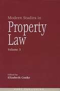 Cover of Modern Studies in Property Law: Volume 3