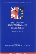 Cover of Patterns of Regionalism and Federalism: Lessons for the UK