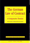 Cover of The German Law of Contract: A Comparative Treatise
