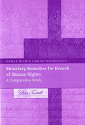 Cover of Monetary Remedies for Breach of Human Rights: A Comparative Study