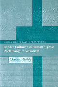 Cover of Gender, Culture and Human Rights: Reclaiming Universalism