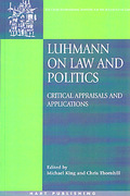 Cover of Luhmann On Law and Politics: Critical, Appraisals and Applications