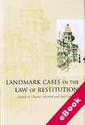 Cover of Landmark Cases in the Law of Restitution (eBook)