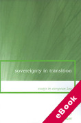 Cover of Sovereignty in Transition: Essays in European Law (eBook)