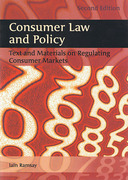 Cover of Consumer Law and Policy: Text and Materials on Regulating Consumer Markets