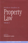 Cover of Modern Studies in Property Law: Volume 4