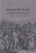 Cover of Homicide Law in Comparative Perspective