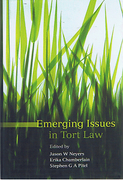 Cover of Emerging Issues in Tort Law