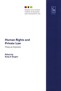 Cover of Human Rights and Private Law: Privacy as Autonomy