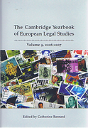 Cover of Cambridge Yearbook of European Legal Studies, Vol 9, 2006-2007
