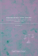 Cover of Answering for Crime: Responsibility and Liability in the Criminal Law