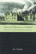 Cover of Law and Opinion in Scotland during the Seventeenth Century