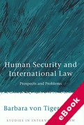 Cover of Human Security and International Law: Prospects and Problems (eBook)