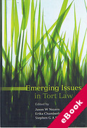 Cover of Emerging Issues in Tort Law (eBook)