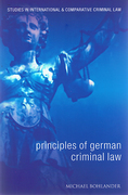 Cover of Principles of German Criminal Law