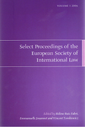 Cover of Select Proceedings of the European Society of International Law Volume 1 2006