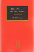 Cover of The Law of Confidentiality: A Restatement
