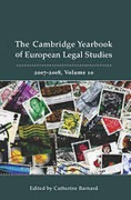 Cover of Cambridge Yearbook of European Legal Studies, Vol 10, 2007-2008