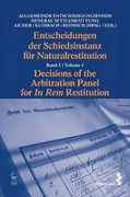 Cover of Decisions of the Arbitration Panel for In Rem Restitution: Volume 1