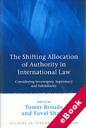 Cover of The Shifting Allocation of Authority in International Law: Considering Sovereignty, Supremacy and Subsidiarity (eBook)