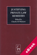 Cover of Justifying Private Law Remedies (eBook)