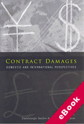 Cover of Contract Damages: Domestic and International Perspectives (eBook)