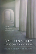 Cover of Rationality in Company Law: Essays in Honour of DD Prentice