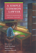 Cover of A Simple Common Lawyer: Essays in Honour of Michael Taggart