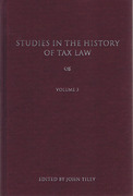 Cover of Studies in the History of Tax Law: Volume 3