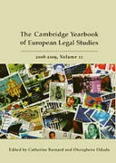 Cover of Cambridge Yearbook of European Legal Studies, Vol 11, 2008-2009