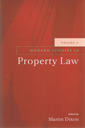 Cover of Modern Studies in Property Law: Volume 5