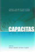 Cover of Capacitas: Contract Law and the Institutional Preconditions of a Market Economy