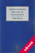 Cover of Rediscovering the Law of Negligence (eBook)