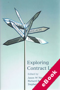 Cover of Exploring Contract Law (eBook)